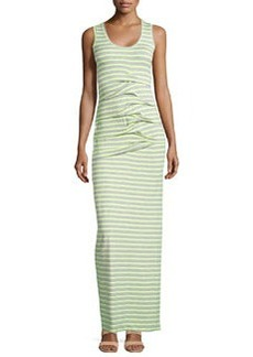 Nicole Miller Sleeveless Tidal Wave Maxi Dress, Yellow/Gray