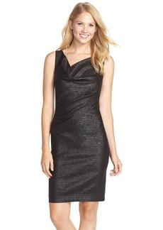 Nicole Miller Sparkle Jacquard Body-Con Dress