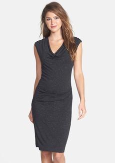 Nicole Miller Speckled Metallic Jersey Dress