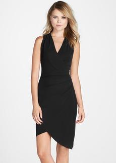 Nicole Miller 'Stephanie' Jersey Faux Wrap Dress
