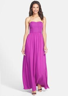 Nicole Miller Stitch Detail Silk Maxi Dress