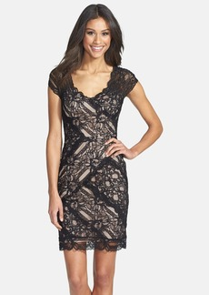 Nicole Miller Stretch Lace Body-Con Dress