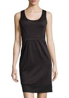 Nicole Miller Stretch Neoprene Dress, Black
