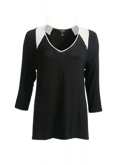 Nicole Miller Stretch Rayon Loungewear Top - 3/4 Sleeve (For Women)