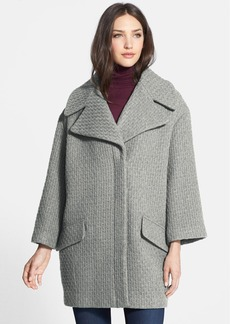 Nicole Miller Textured Wool Blend Wedge Coat