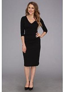 Nicole Miller Three-Quarter Sleeve Soft Stretch Jersey Dress
