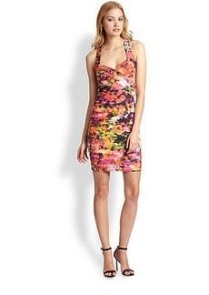 Nicole Miller Viola Pansy Print Dress
