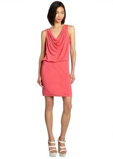 Nicole Miller watermelon draped neck elastic waist sleeveless jersey knit dress