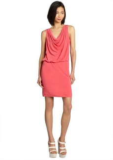 Nicole Miller watermelon draped neck elastic waist sleeveless jersey knit dress