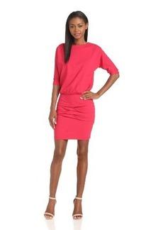 Nicole Miller Women's 3/4 Sleeve Bloussant Ponte Dress