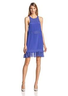 Nicole Miller Women's Mika Combo Pleats Dress