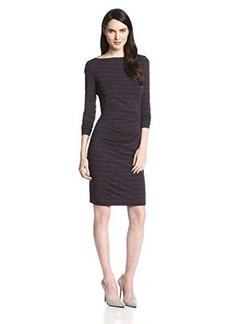 Nicole Miller Women's Quinn Striped Jersey Dress