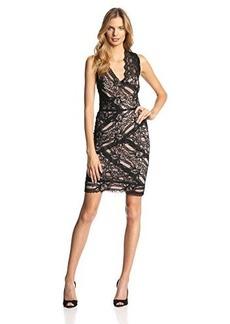 Nicole Miller Women's Stretch Multi-Lace Dress
