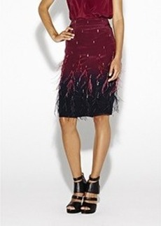 Ombre Feathers Skirt