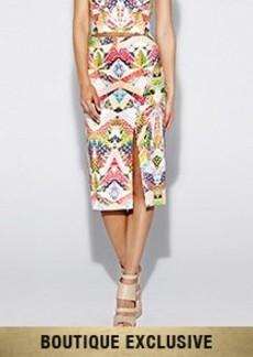 Origami Pineapple Slit Skirt