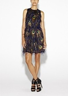 Peacock Feathers Dress
