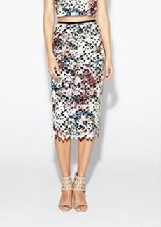 Printed Venice Lace Skirt