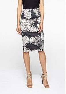 Sandy Palm Cotton Metal Skirt