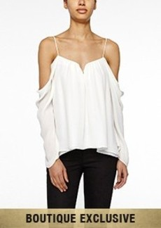 Schuler Cold Shoulder Blouse