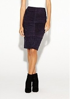Suede Tuck Skirt