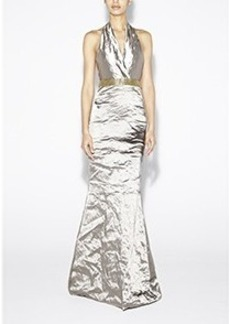 Techno Metal Halter Gown