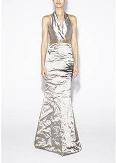 Techno Metal Halter Gown