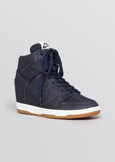 Nike Lace Up High Top Sneakers - Women's Dunk Sky Hi Essential