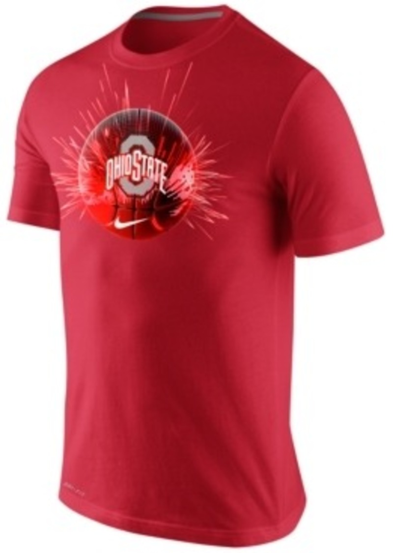 Nike nike men 39 s ohio state buckeyes basketball player t for Ohio state shirts mens