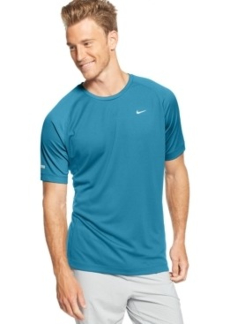 Nike nike miler dri fit performance t shirt t shirts for Custom dri fit t shirts