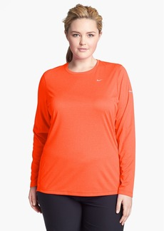 Nike 'Miler' Long Sleeve Dri-FIT Tee (Plus Size)