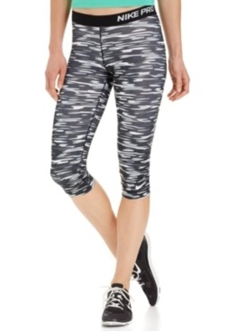 nike nike pro dri fit haze print capri leggings casual. Black Bedroom Furniture Sets. Home Design Ideas