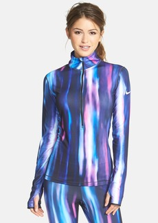 Nike 'Pro Hyperwarm' Aurora Half Zip Top
