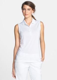 Nike 'Tech' Dri-FIT Stripe Sleeveless Golf Polo