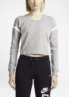 Nike T/F Mesh-Back Cropped Crew