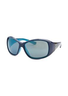 Nike Women's Minx Rectangle Deep Royal Blue & Neon Turquoise Sunglasses