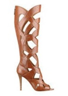 Dewy Caged Leather Gladiator Boots