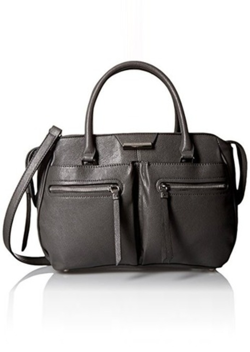 nine west nine west just zip it satchel bag graphite one