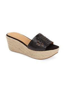 Nine West 'Raptor' Leather Huarache Slide Sandal (Women)