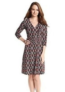 Nine West® Surplice Patterned Dress