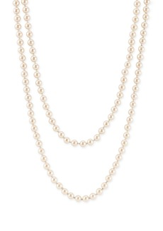 Nordstrom 6mm Glass Pearl Extra Long Strand Necklace