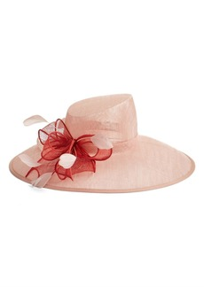 Nordstrom Asymmetrical Sinamay Hat with Flower