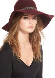 Nordstrom Beaded Floppy Wool Hat