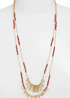 Nordstrom Beaded Fringed Two-Row Necklace