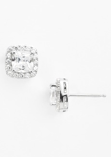 Nordstrom Boxed Square 2.63ct tw Cubic Zirconia Stud Earrings