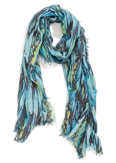 Nordstrom 'Brushstrokes' Cashmere & Silk Blend Scarf