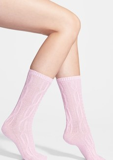 Nordstrom Cable Knit Crew Socks