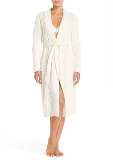 Nordstrom Lingerie Cable Sweater Robe