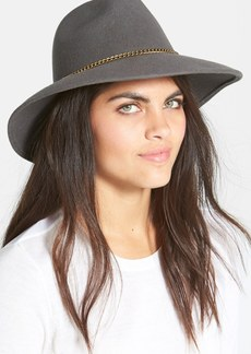 Nordstrom Chain Trim Wool Fedora