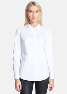 Nordstrom Collection 'Abella' High/Low Shirttail Hem Poplin Blouse