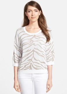 Nordstrom Collection Animal Jacquard Sweater